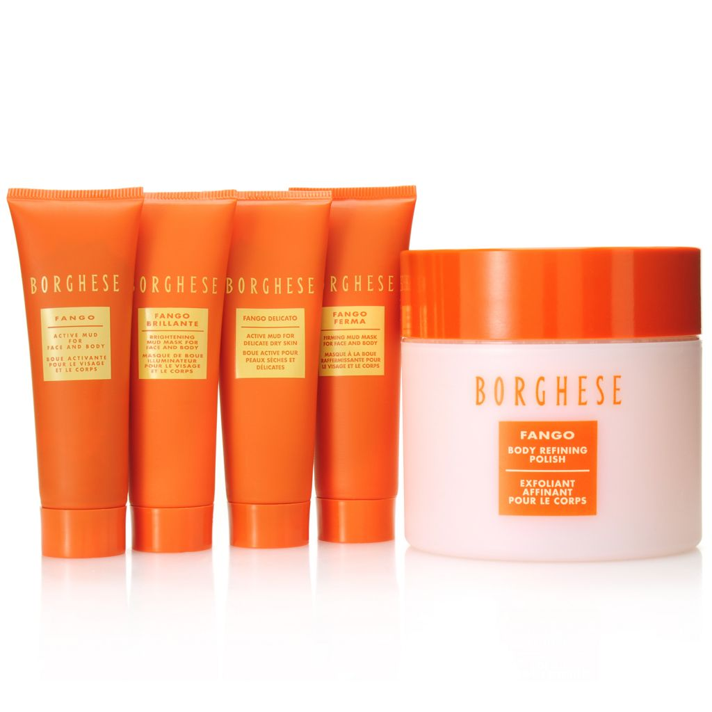 307-130 - Borghese Five-Piece Fango Body Refining Polish & Mud Treatment Essentials Kit