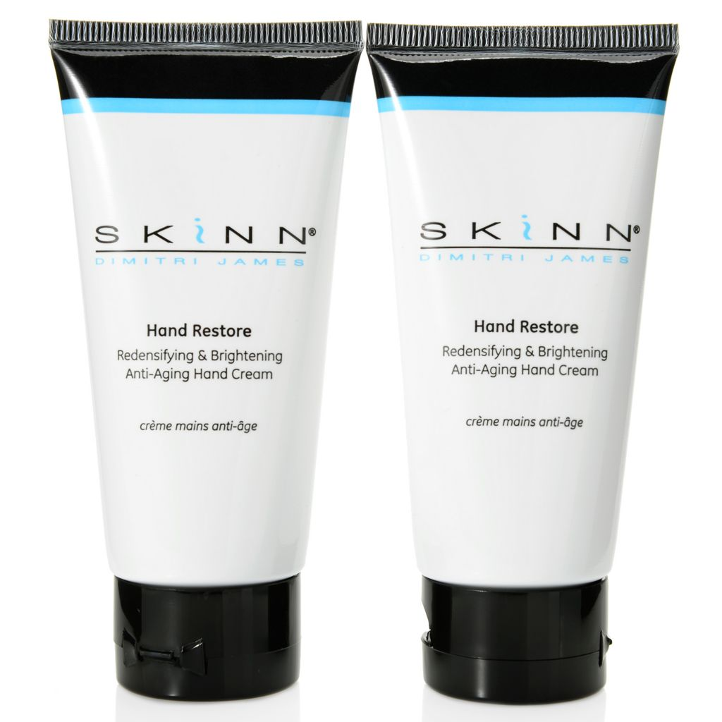 307-139 - Skinn Cosmetics Anti-Aging Hand Restore Hand Cream Duo 2 oz Each
