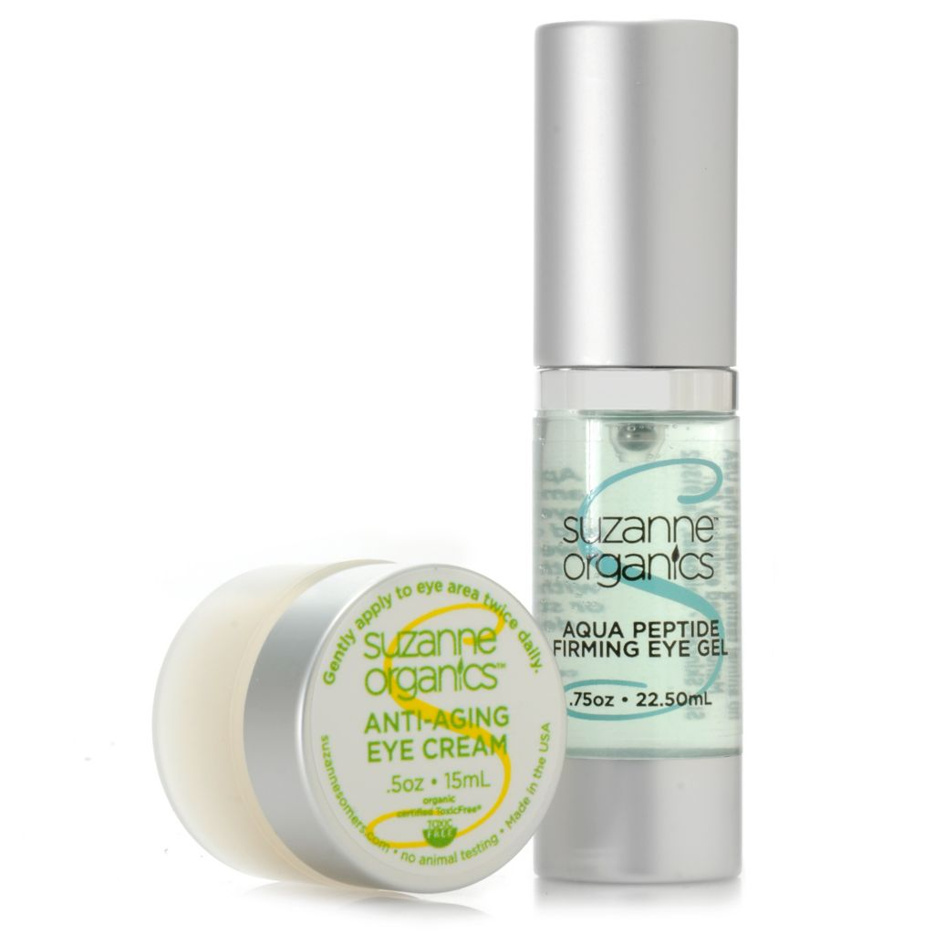 307-150 - Suzanne Somers Organics Firming Eye Gel & Anti-Aging Eye Cream Duo