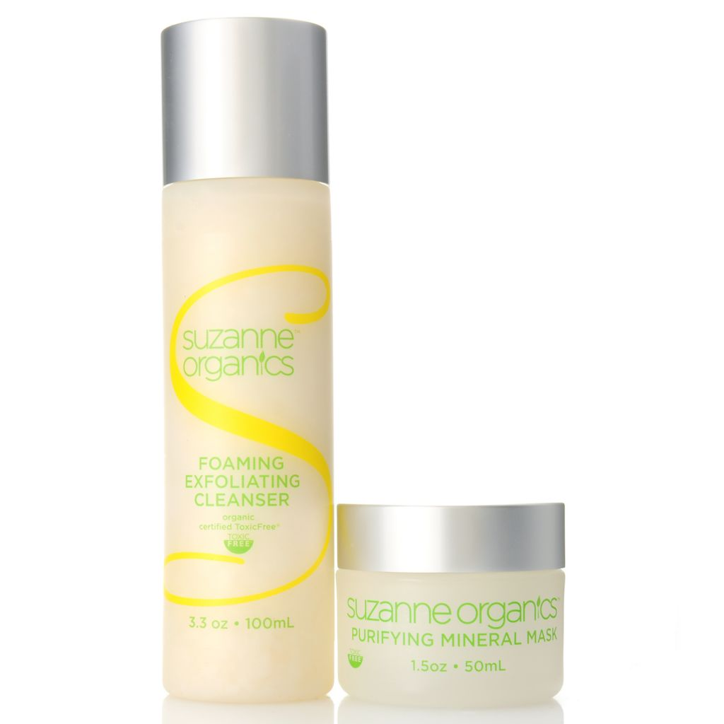 307-154 - Suzanne Somers Organics Exfoliating Foaming Cleanser & Mineral Mask Duo
