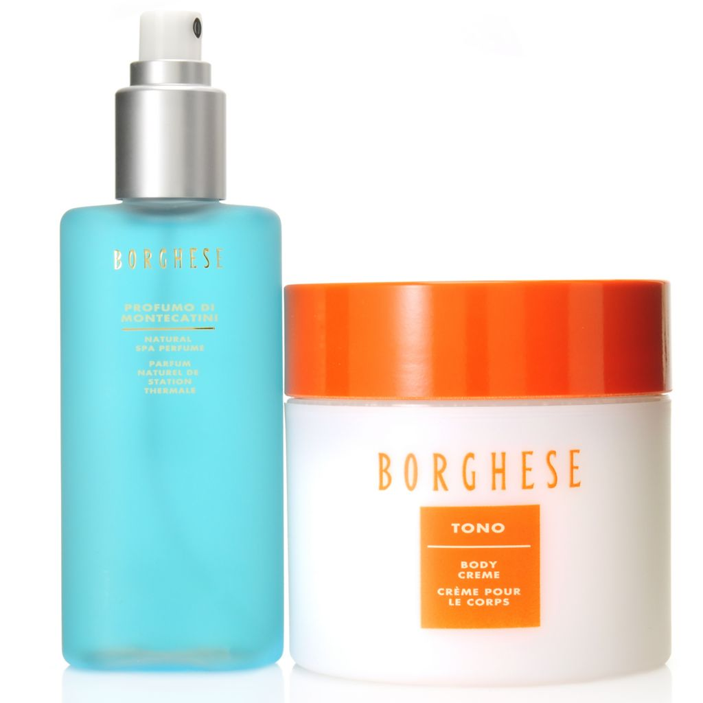 307-166 - Borghese Aromatherapeutic Natural Spa Perfume & Tono Body Creme Duo