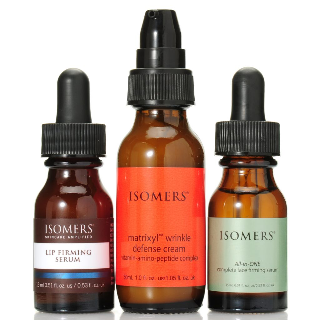 307-196 - ISOMERS® Firming Face Serum, Lip Serum & Wrinkle Defense Cream Discovery Trio