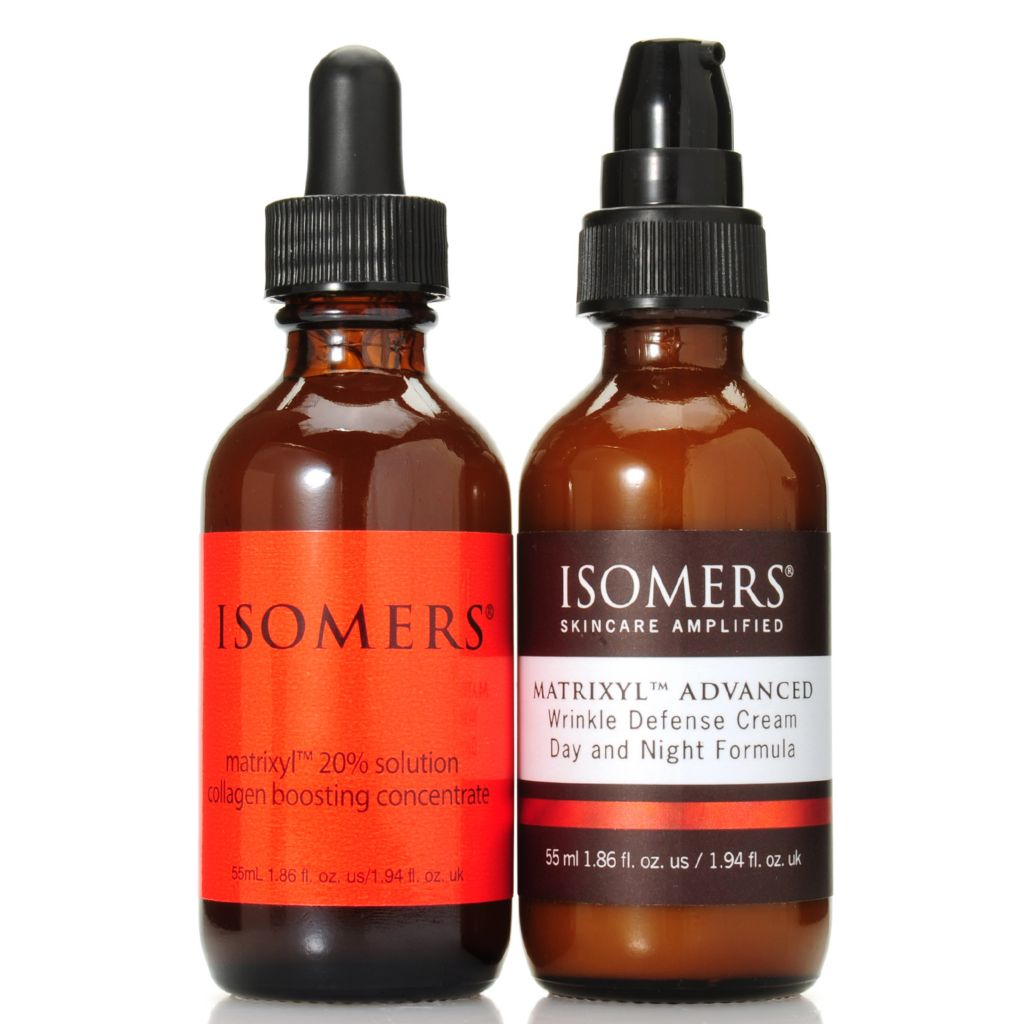 307-197 - ISOMERS® Matrixyl™ 20% Solution & Day & Night Wrinkle Defense Cream Duo 1.86 oz Each