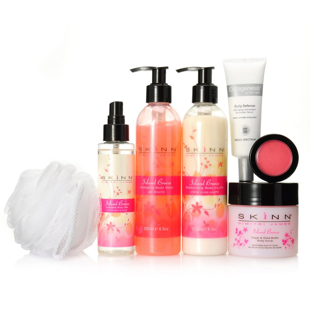 307-198 - Skinn Cosmetics Seven-Piece Island Breeze Body Collection