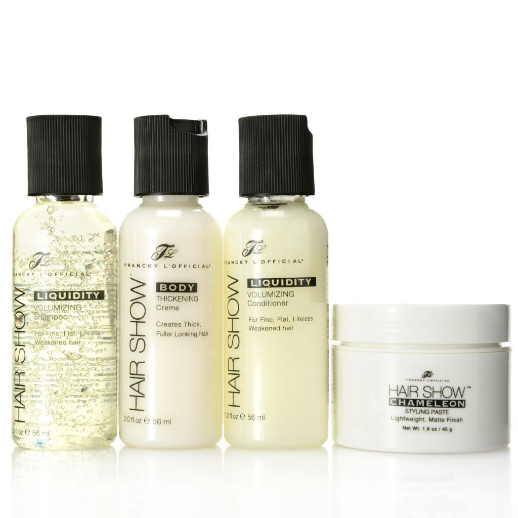 307-212 - Francky L'Official® Four-Piece Haircare Discovery Kit w/ Travel Bag