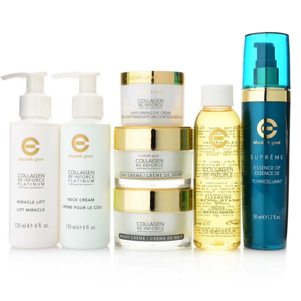 307-223 - Elizabeth Grant Seven-Piece Collagen, Torricelumn & Platinum Age-Defy Skincare System