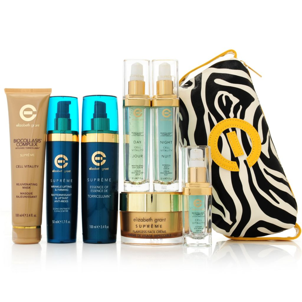 307-235 - Elizabeth Grant Seven-Piece Ultimate Supreme Skincare Kit w/ Cosmetic Bag