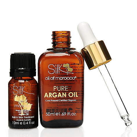 307-373 - Silk Oil of Morocco® Pure Argan Oil Moisture Treatment w/ Bonus Hair & Skin Serum