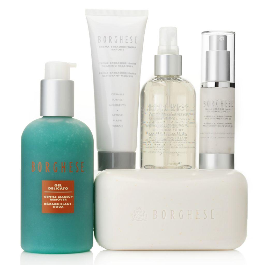 307-398 - Borghese Five-Piece Crema Straordinaria Cleanse, Hydrate & Tone Skincare Set