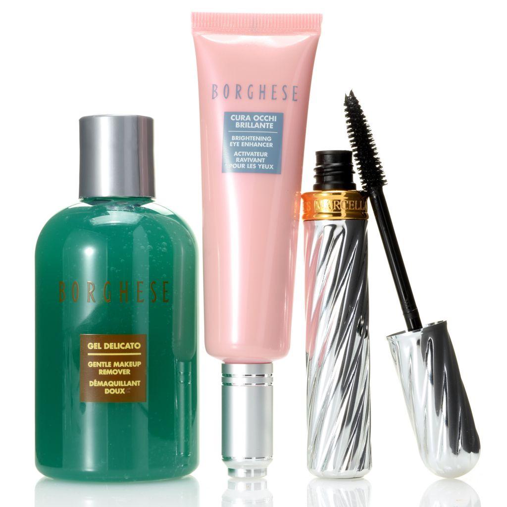 307-404 - Borghese Brightening Eye Enhancer, Mascara & Gentle Makeup Remover Trio