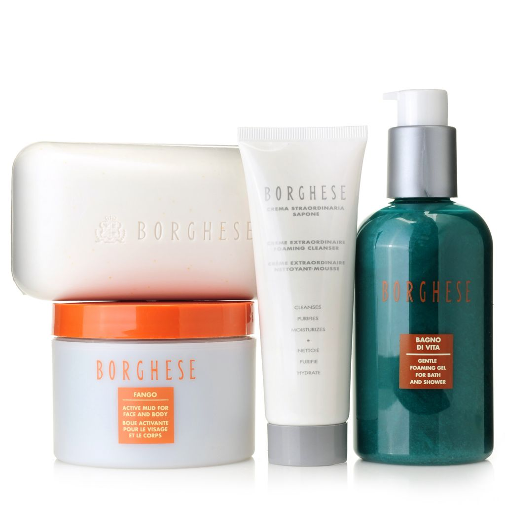 307-405 - Borghese Four-Piece Revitalizing Face & Body Cleansing Essentials Set