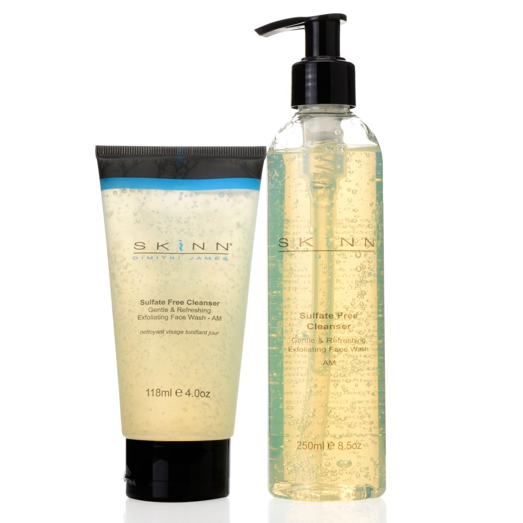 307-419 - Skinn Cosmetics Sulfate-Free Cleanser Gentle & Refreshing Face Wash Duo