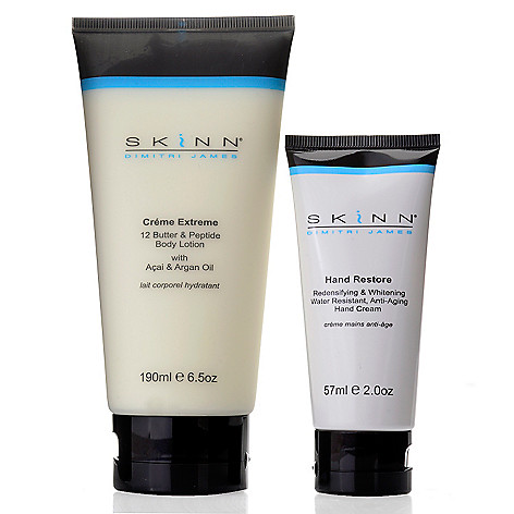 307-425 - Skinn Cosmetics Creme Extreme Body Lotion & Hand Restore Hand Cream Duo