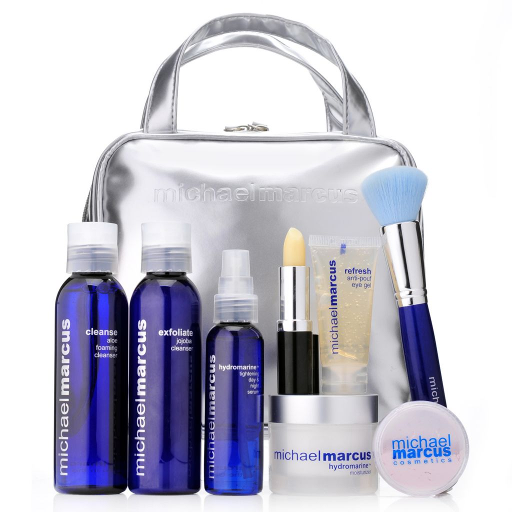 307-435 - Michael Marcus Eight-Piece Hydrate, Firm & Tighten Skincare Set w/ Cosmetic Bag