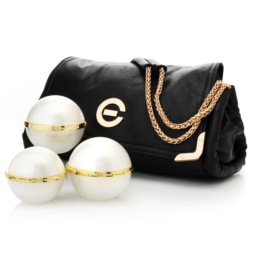 307-439 - Elizabeth Grant Three-Piece Prestige Day, Night & Eye Cream Collection w/ Handbag