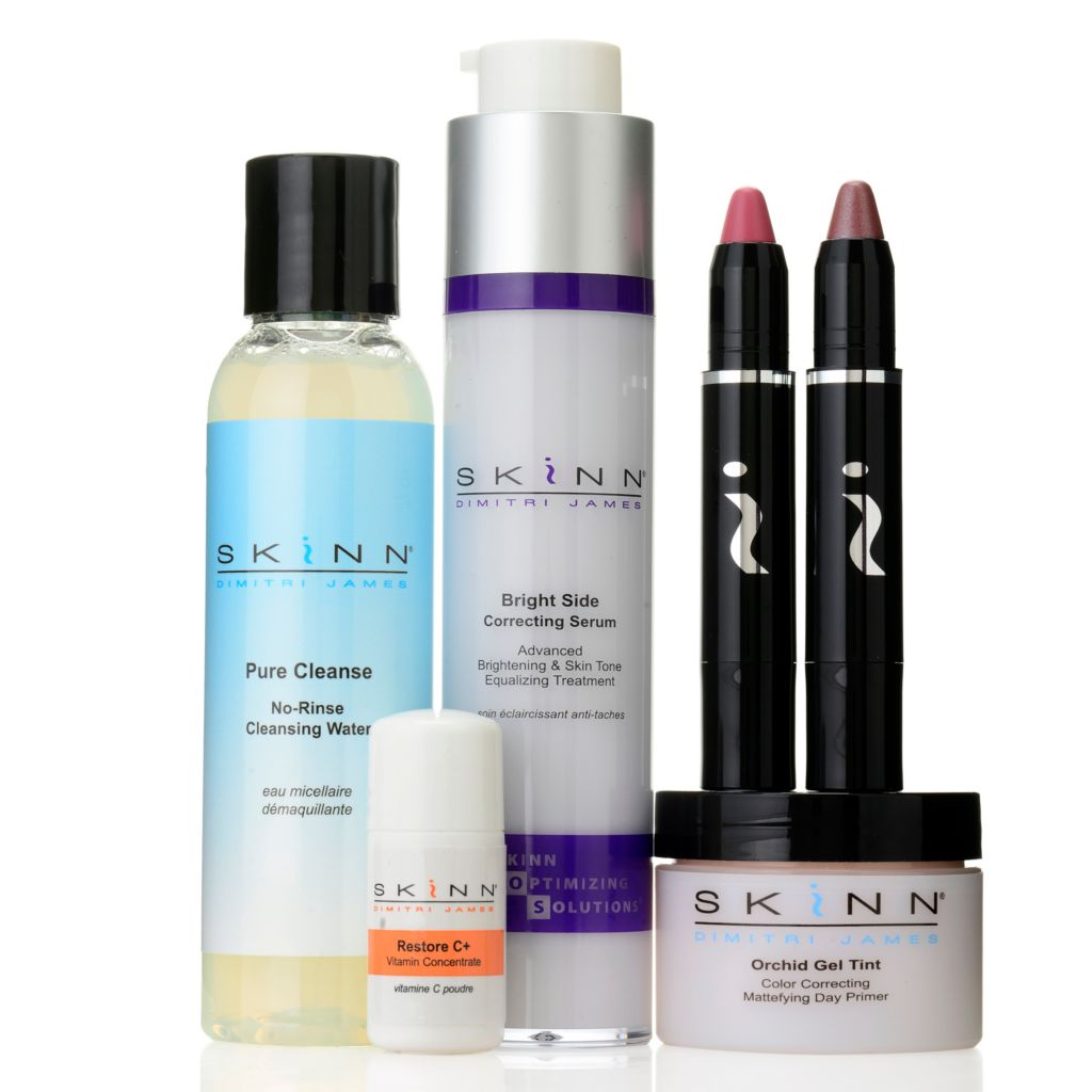 "307-453 - Skinn Cosmetics Six-Piece ""Pure & Bright"" Skincare & Color Collection"