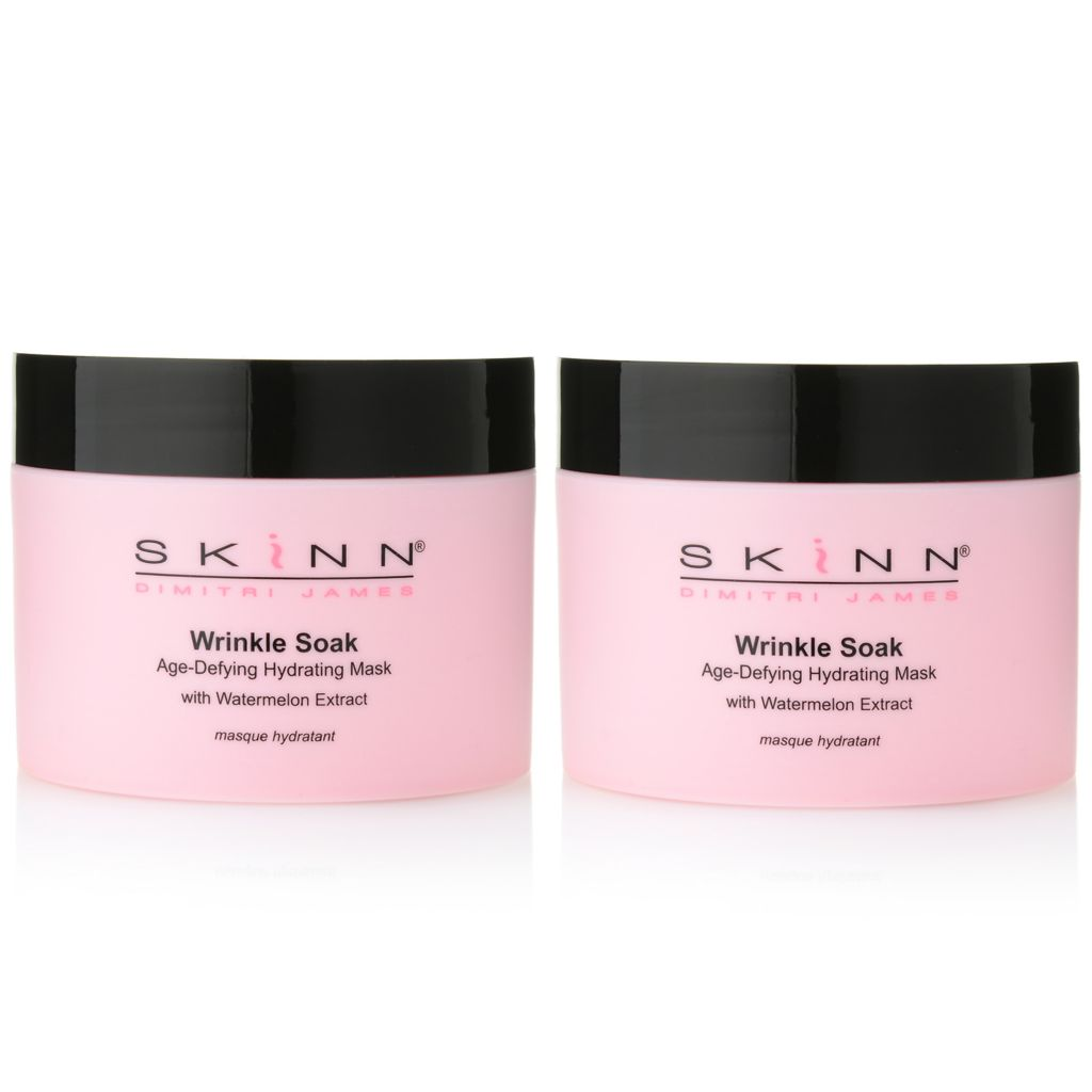 307-455 - Skinn Cosmetics Wrinkle Soak Hydrating Watermelon Mask Duo 2 oz Each