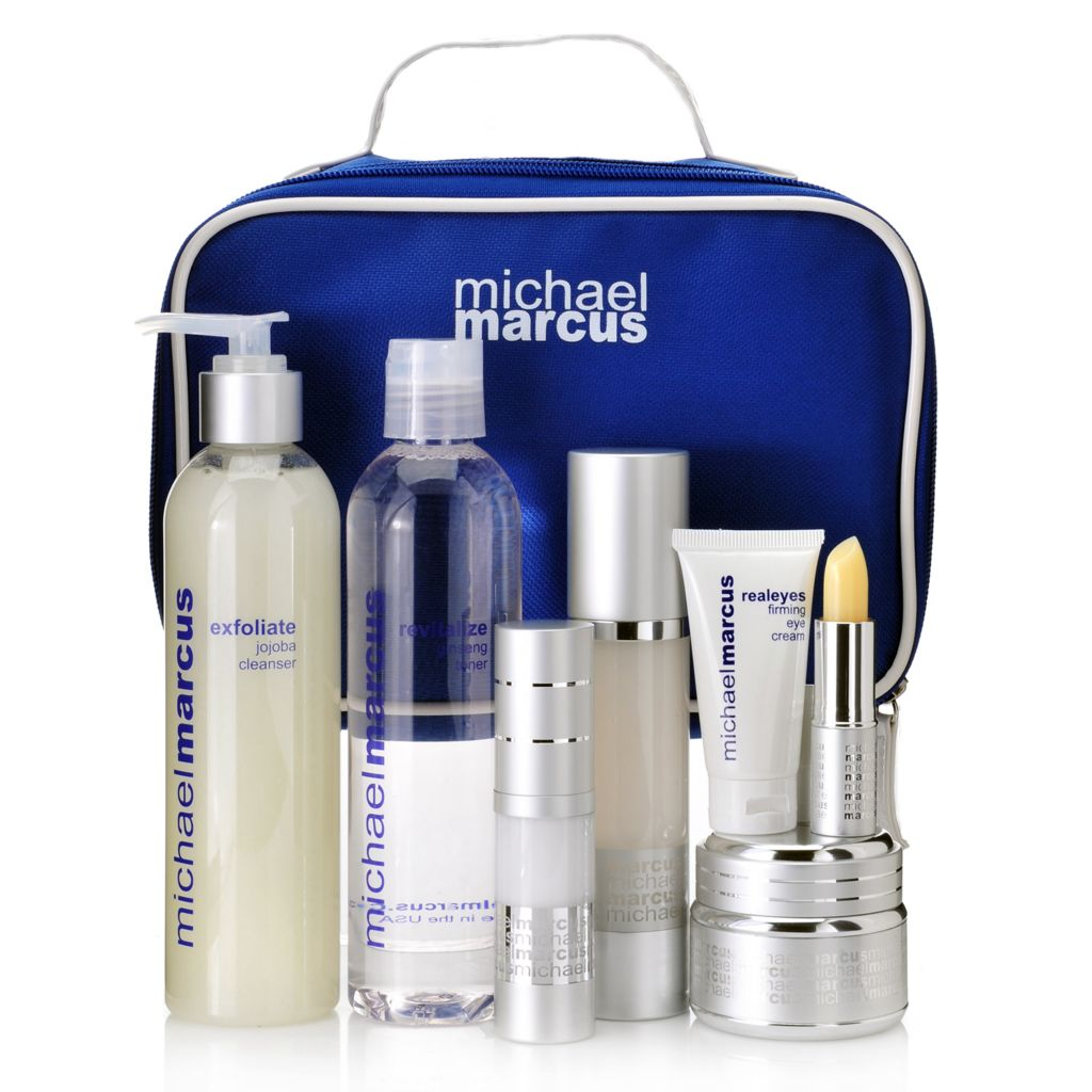 307-463 - Michael Marcus Seven-Piece Anti-Aging Skincare Set w/ Cosmetic Bag