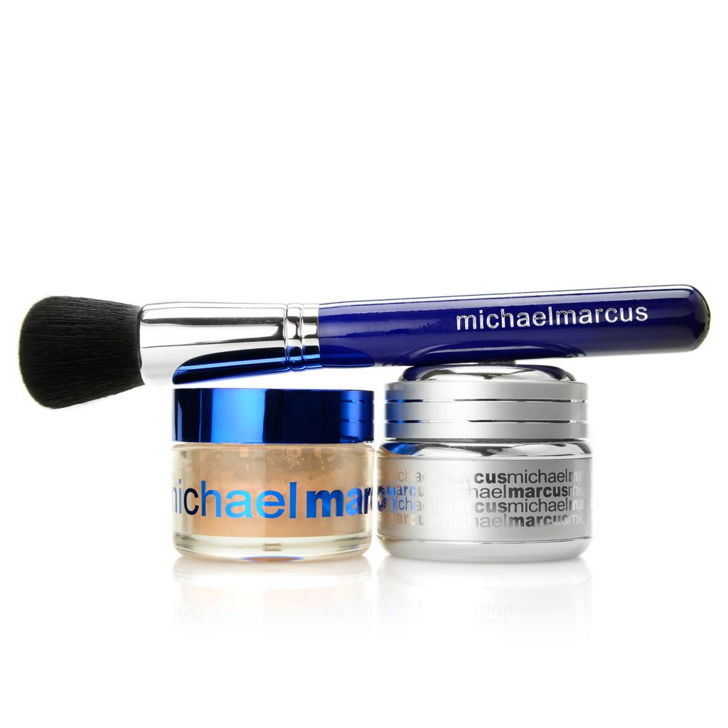 307-467 - Michael Marcus Mattifying Mousse & HD Prime Powder Duo w/ Buff Brush 1 oz Each