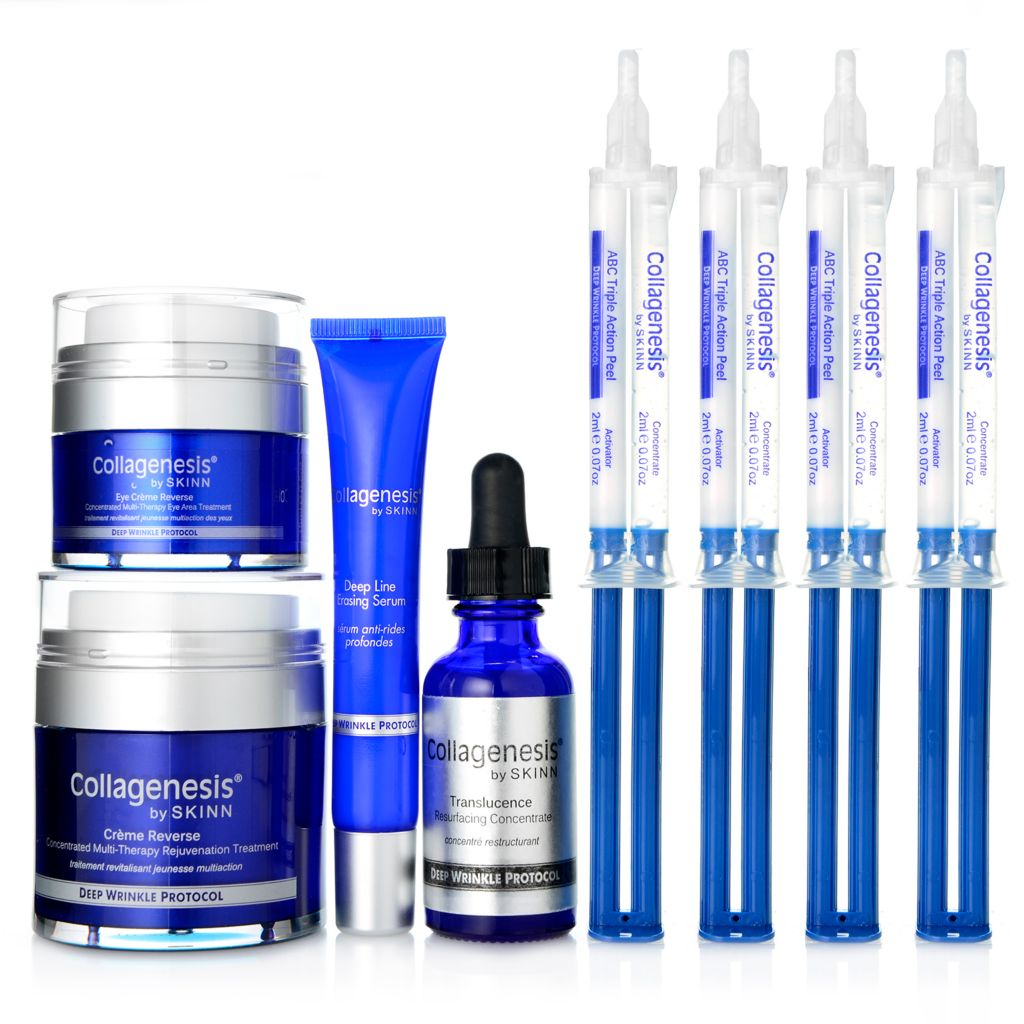 307-468 - Skinn Cosmetics Eight-Piece Collagenesis® Deep Wrinkle Protocol Skincare Set