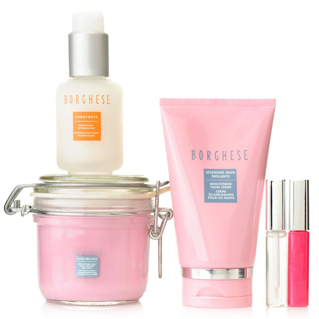 307-481 - Borghese Five-Piece Brighten & Hydrate Skincare & Lip Gloss Collection