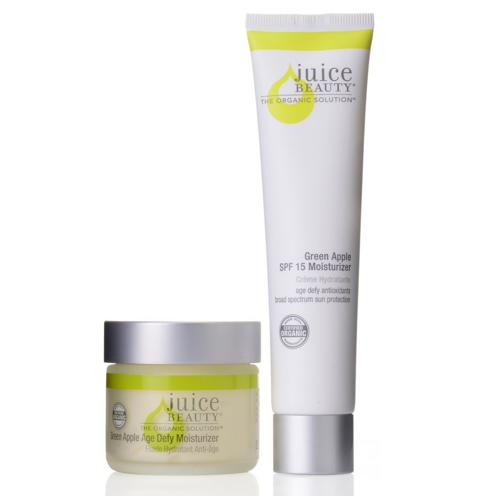 307-487 - Juice Beauty Certified Organic Green Apple Age Defy & SPF 15 Moisturizer Duo