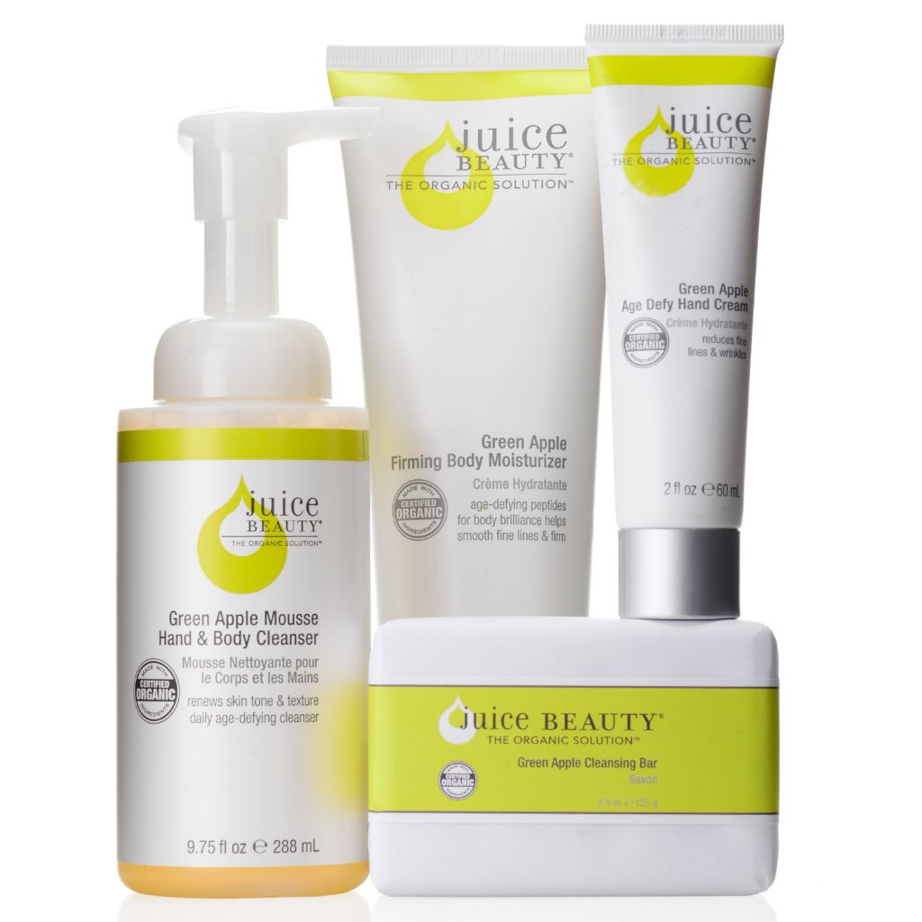 307-488 - Juice Beauty Four-Piece Certified Organic Green Apple Hand & Body Skincare Set