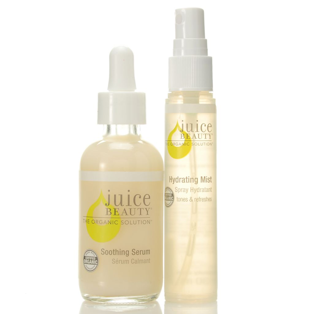 307-494 - Juice Beauty Certified Organic Soothing Serum w/ Discovery Size Hydrating Mist