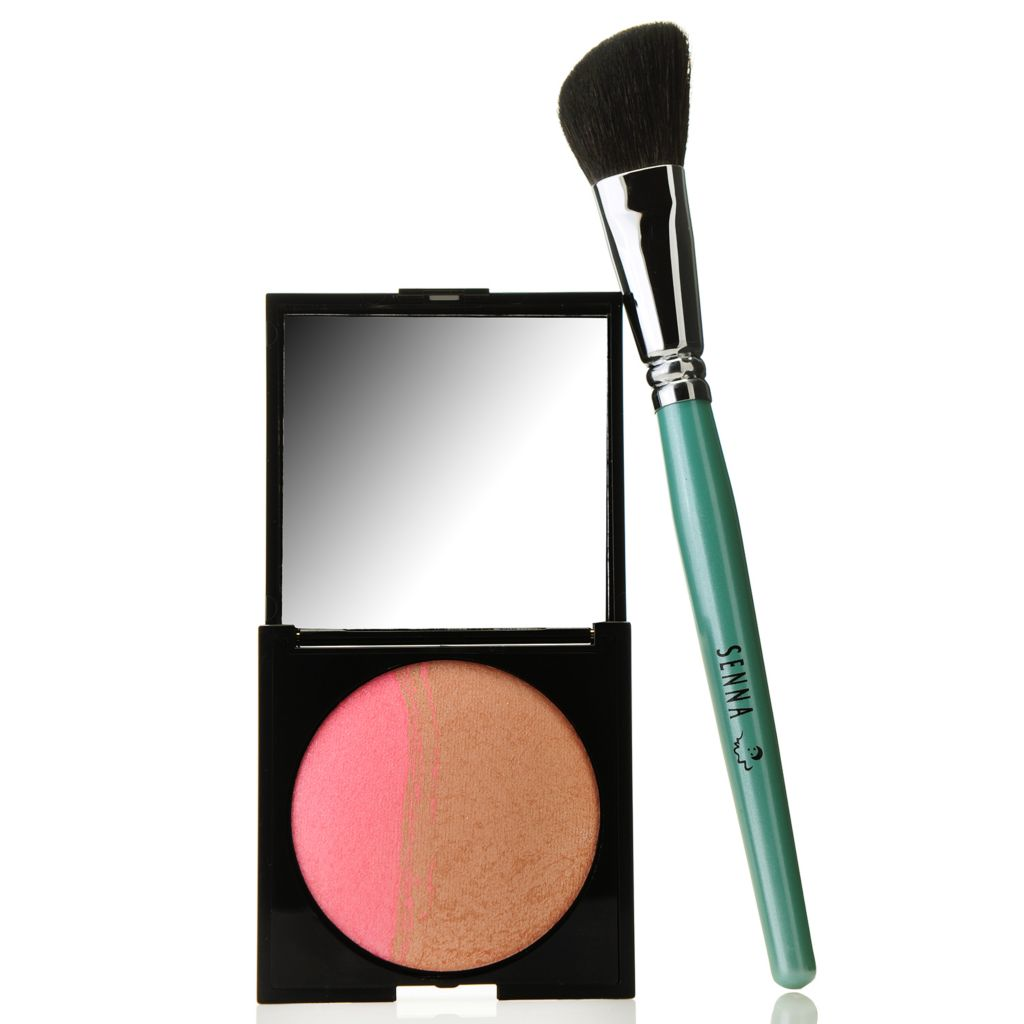 307-550 - SENNA Baked Mineral Bronzer & Blush w/ Angled Application Brush
