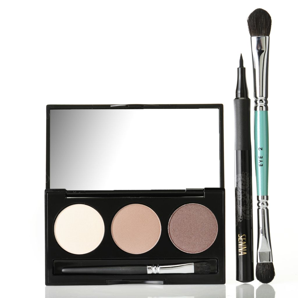 307-552 - SENNA Ombre Eye Color Trio & Micro Tip Liquid Eyeliner Duo w/ Eye Shadow Brush