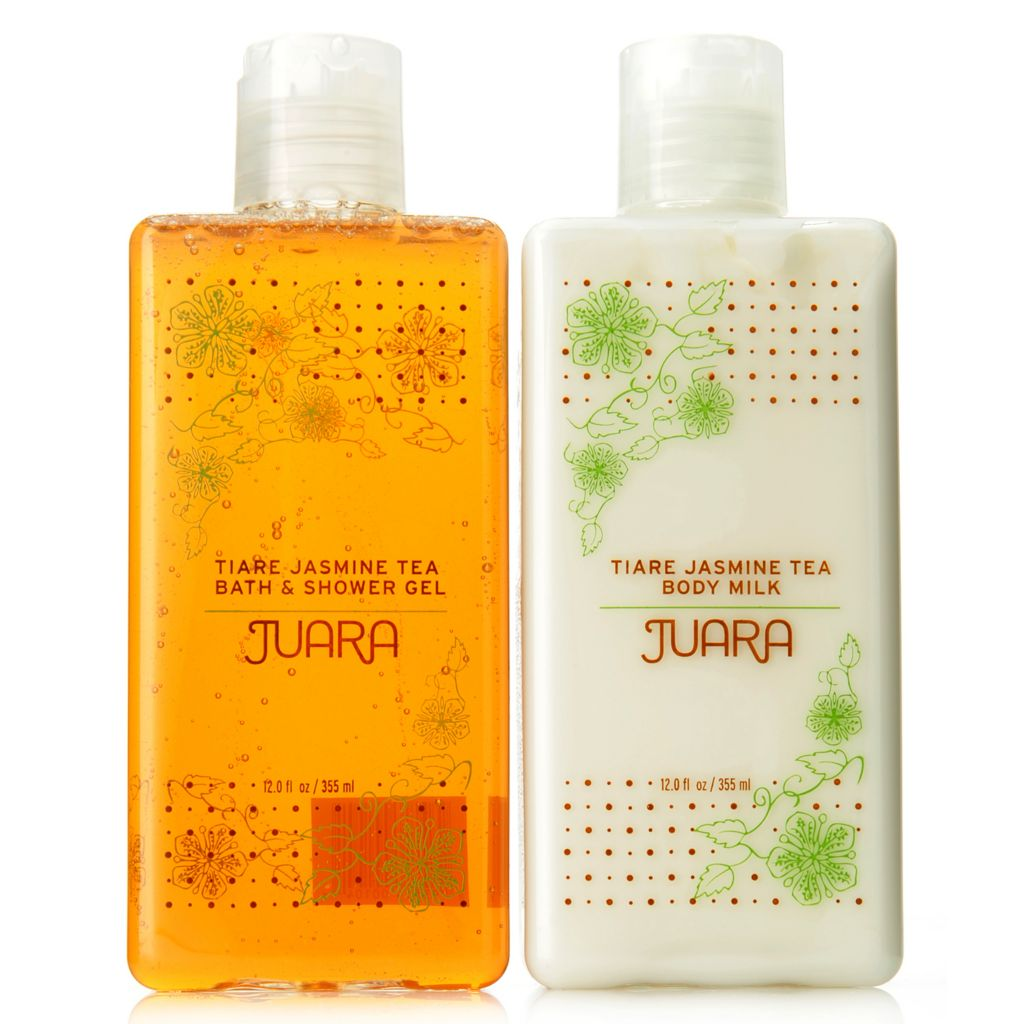 307-606 - JUARA Tiare Jasmine Tea Bath & Shower Gel & Body Milk Duo 12 oz Each