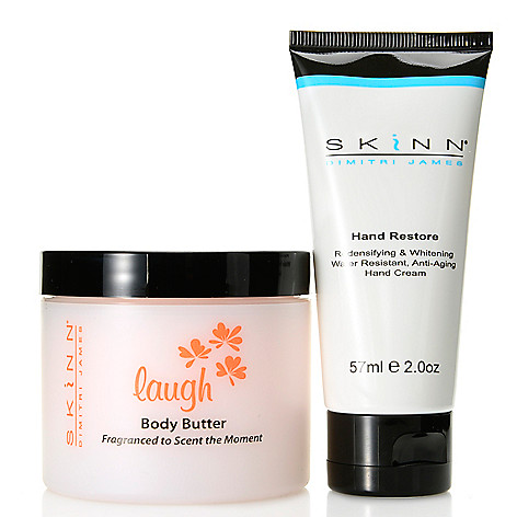 307-699 - Skinn Cosmetics ''Laugh'' Body Butter & Hand Restore Cream Duo