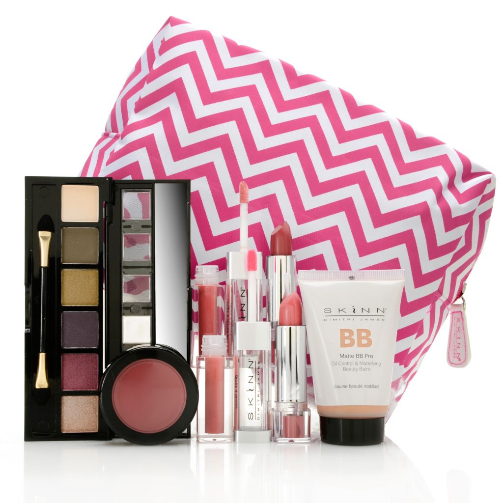 307-700 - Skinn Cosmetics Five-Piece Complete Makeover Color Collection w/ Cosmetic Bag
