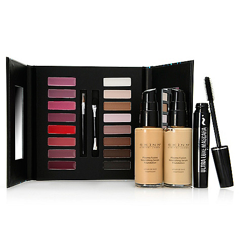 307-714 - Skinn Cosmetics Four-Piece Fusion Foundation, Pro Palette & Mascara Color Collection