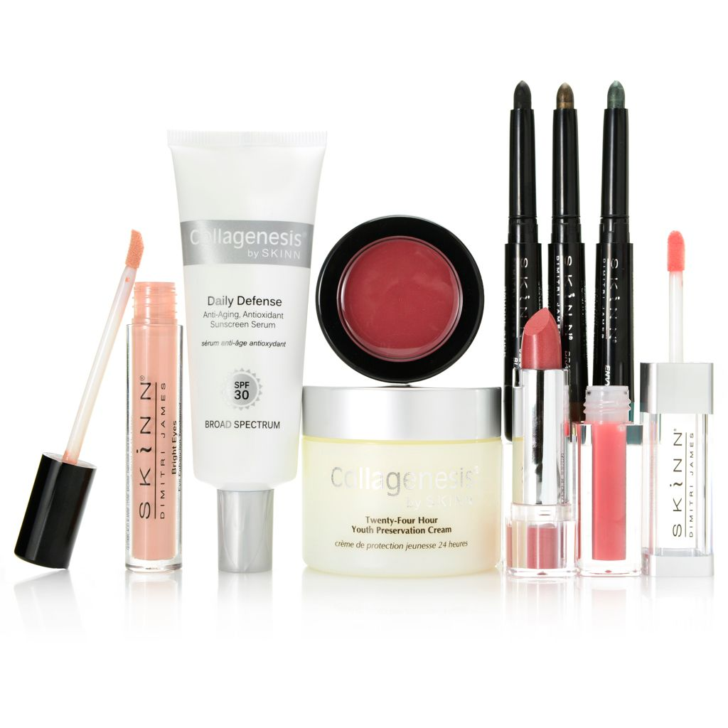 "307-716 - Skinn Cosmetics Eight-Piece ""Treat, Protect & Glow"" Skincare & Color Collection"