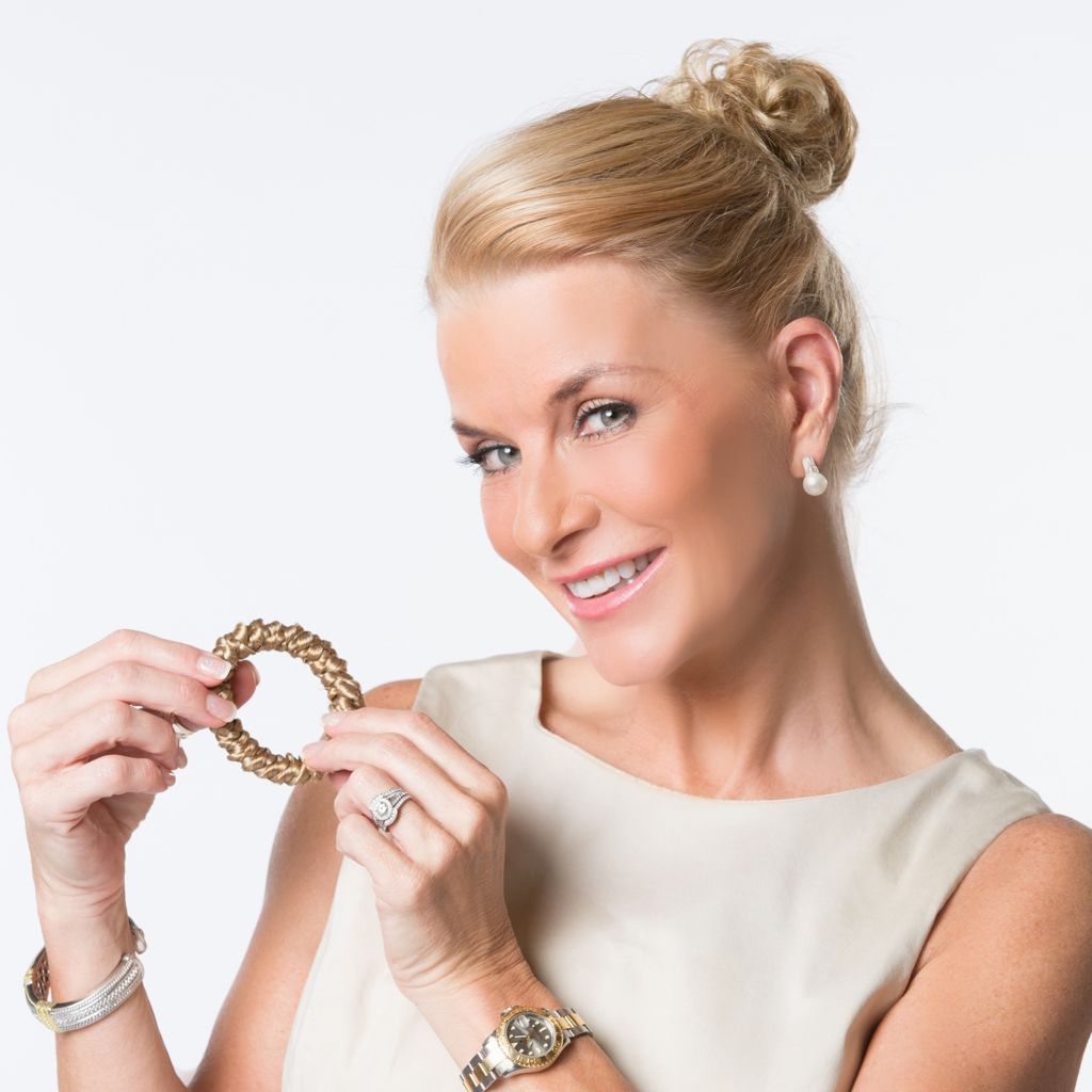 "307-744 - Toni Brattin® 2.5"" Mini Toni Twist® & Twirl Hair Wrap w/ Bonus Braided Hair Wrap"