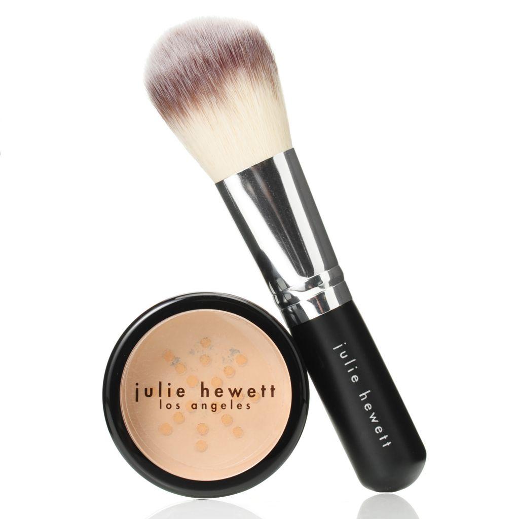 307-751 - Julie Hewett Ora Loose Mineral Powder Foundation w/ Application Brush