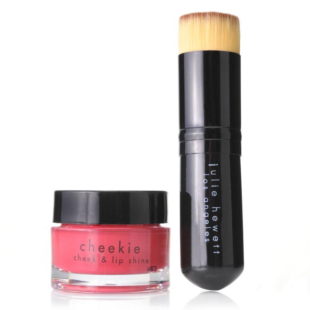 307-752 - Julie Hewett Cheekie: Cheek & Lip Shine w/ Chubby Cheekie Brush