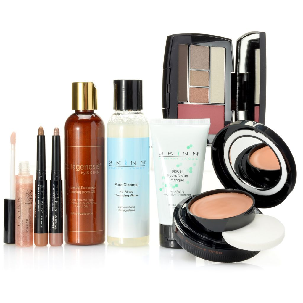 307-763 - Skinn Cosmetics Eight-Piece Glow & Glory Bronzing Set for Face & Body
