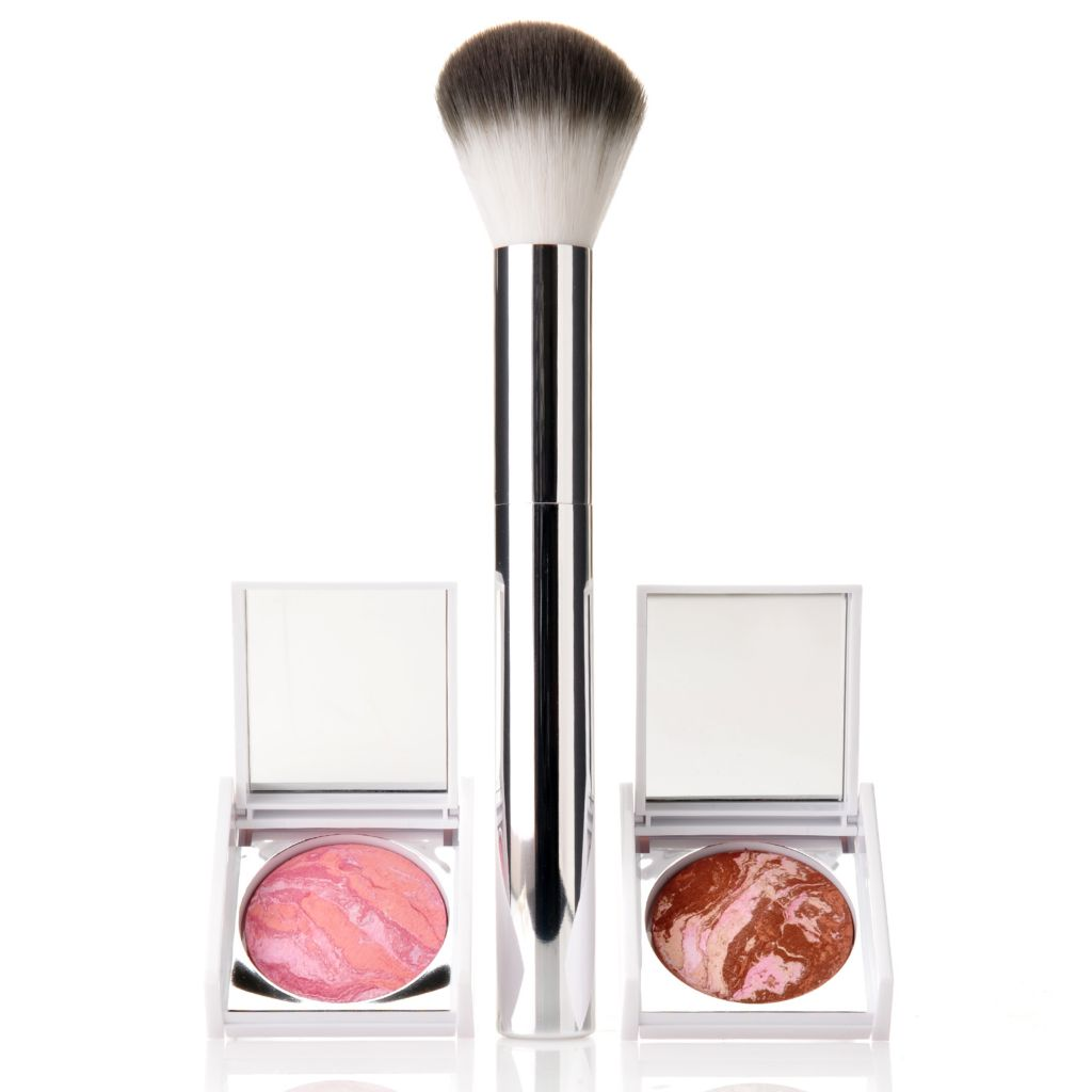 307-906 - New CID Cosmetics® Discovery Size Powdered Bronzer & Blush Duo w/ Application Brush