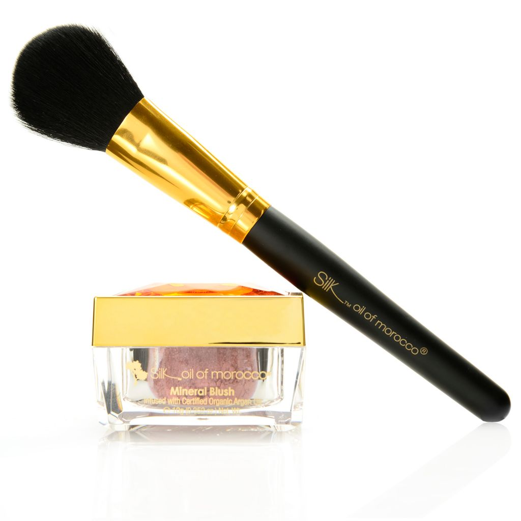 307-917 - Silk™ Oil of Morocco® Argan Oil Infused Mineral Blush w/ Application Brush 0.352 oz