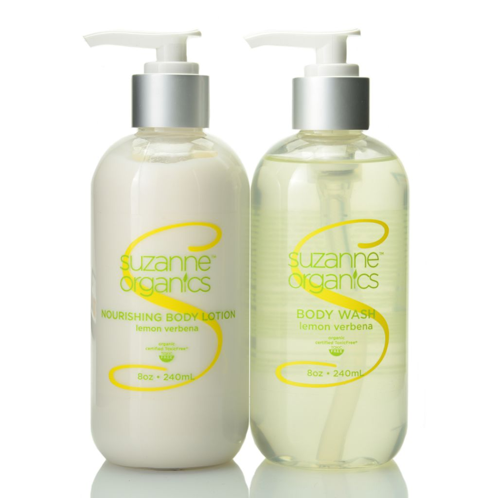 307-950 - Suzanne Somers Organics Lemon Verbena Body Wash & Body Lotion Duo