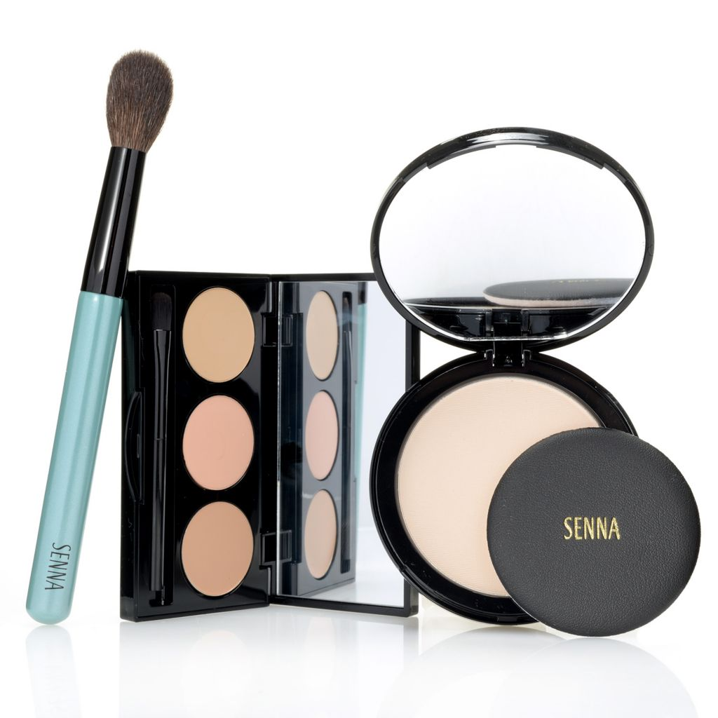 307-966 - SENNA Concealer Palette & Mineral Mix® Finishing Powder Duo w/ Brush