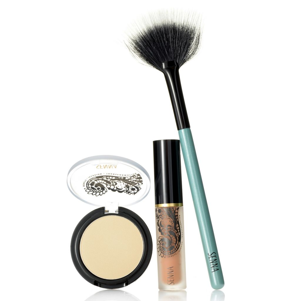 307-967 - SENNA Totally Transforming Concealer® & HD Eye Lift Duo w/ Fan Brush