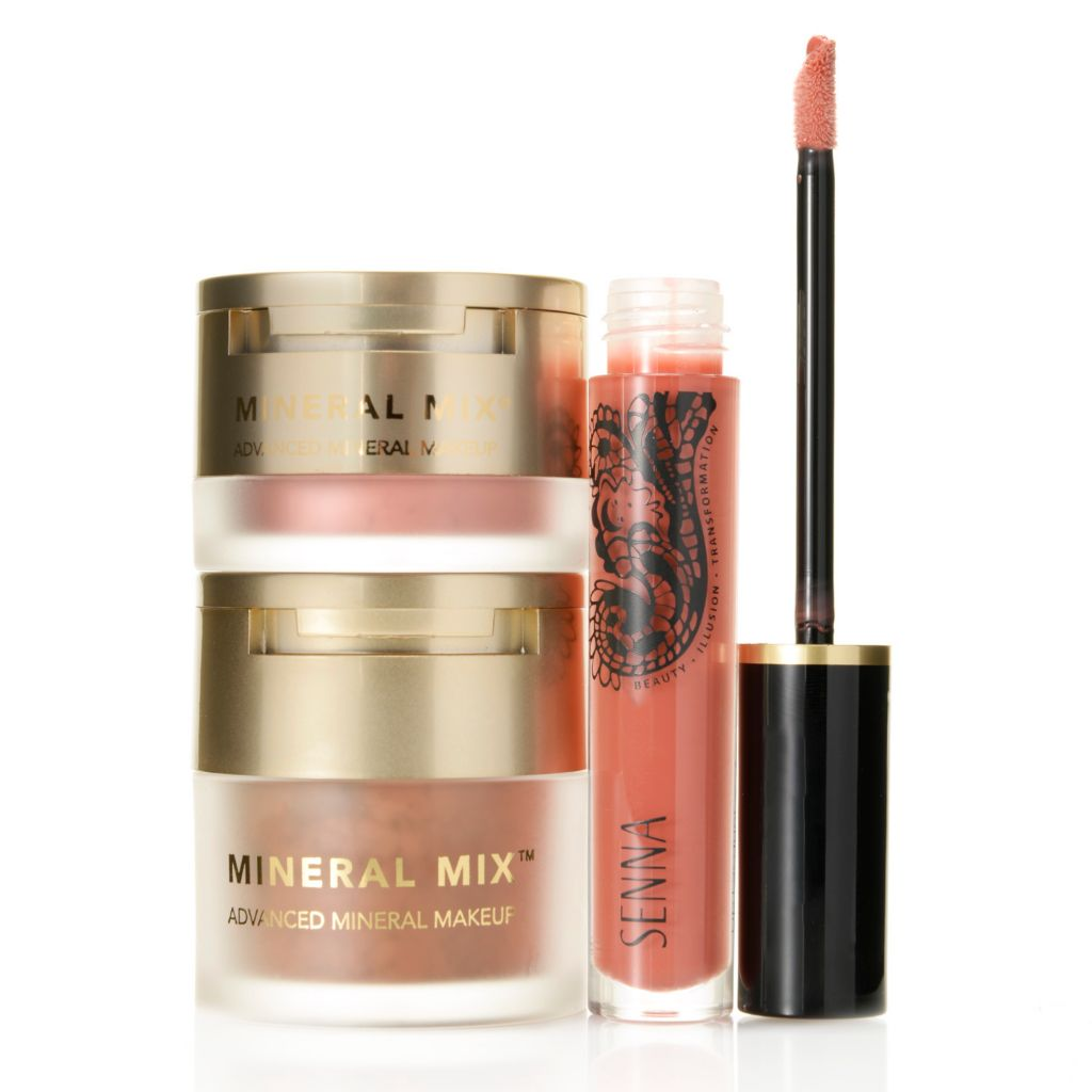 307-973 - SENNA Three-Piece Mineral Mix® Bronzer, Blush & Lip Lacquer Set