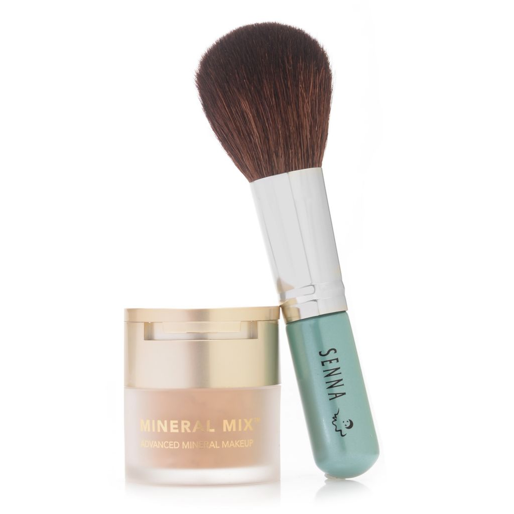 307-975 - SENNA Mineral Mix® Advanced Mineral Makeup Cover & Finish Foundation w/ Buffer Brush