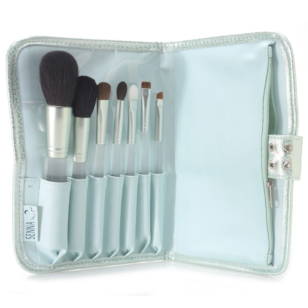 307-976 - SENNA Seven-Piece Professional Cosmetic Brush Collection w/ Brush Clutch