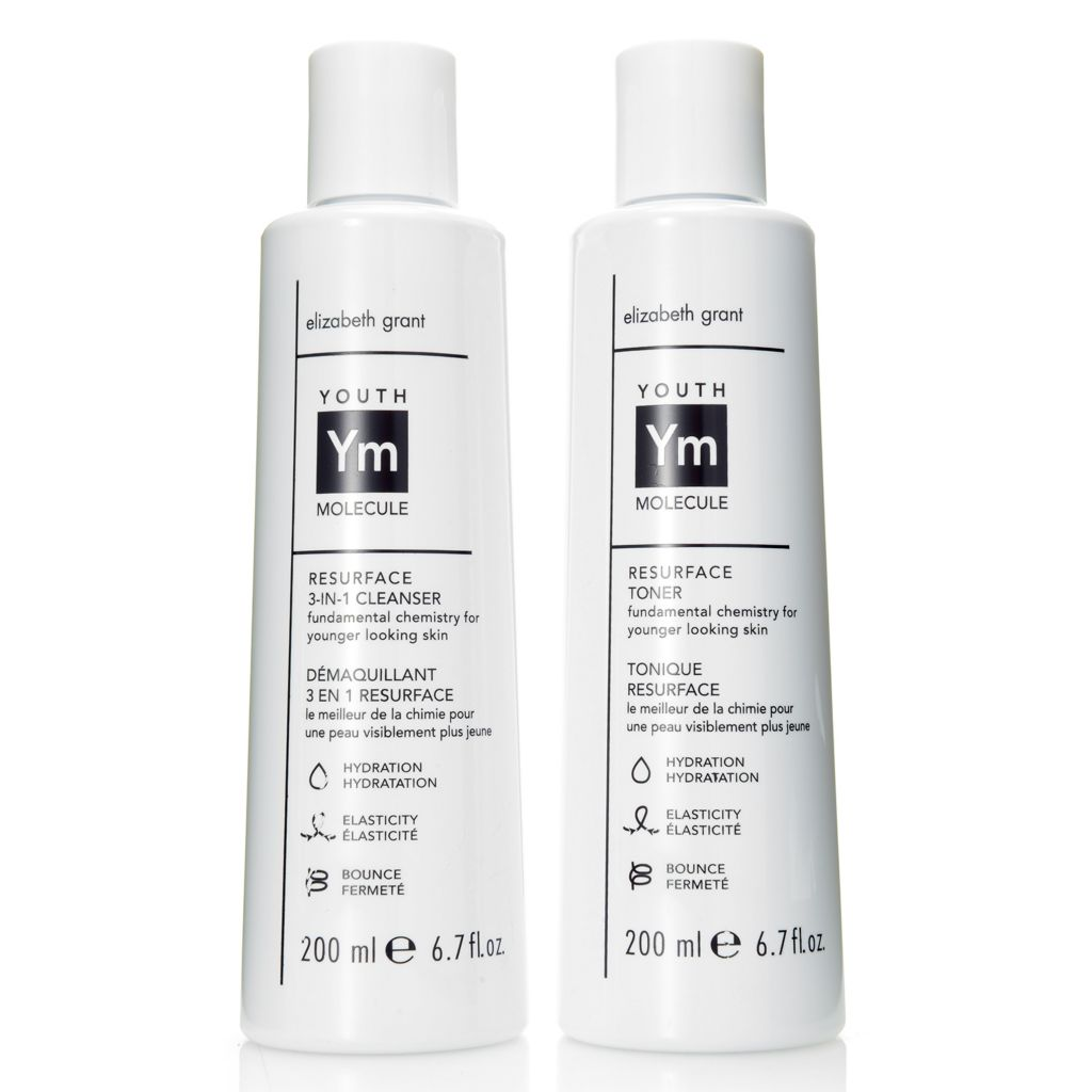 308-003 - Elizabeth Grant Youth Molecule Resurfacing 3-in-1 Cleanser & Toner Duo