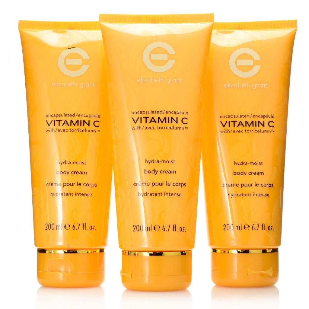 308-011 - Elizabeth Grant Vitamin C Hydra-Moist Body Cream Trio 6.7 oz Each