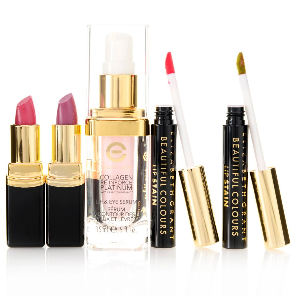 308-013 - Elizabeth Grant Five-Piece Lip Rejuvenation Skincare & Color Collection